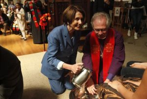 Pelosi Foot Washing